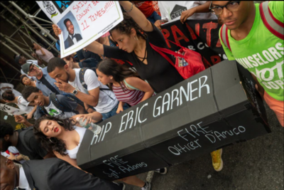 Protesters march on the fifth anniversary of Eric Garner's death