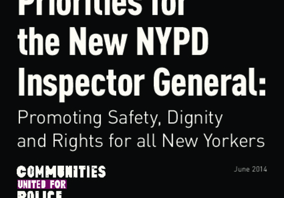 Priorities for the New NYPD Inspector General