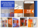 A proposed redesign of the 73rd precinct by students at the New York School of Interior Design features new bulletproof glass doors, bright colors and modern wayfinding signs (Photo courtesy of NYSID)