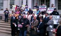 Latino Leaders on steps of City Hall call for NYPD reform